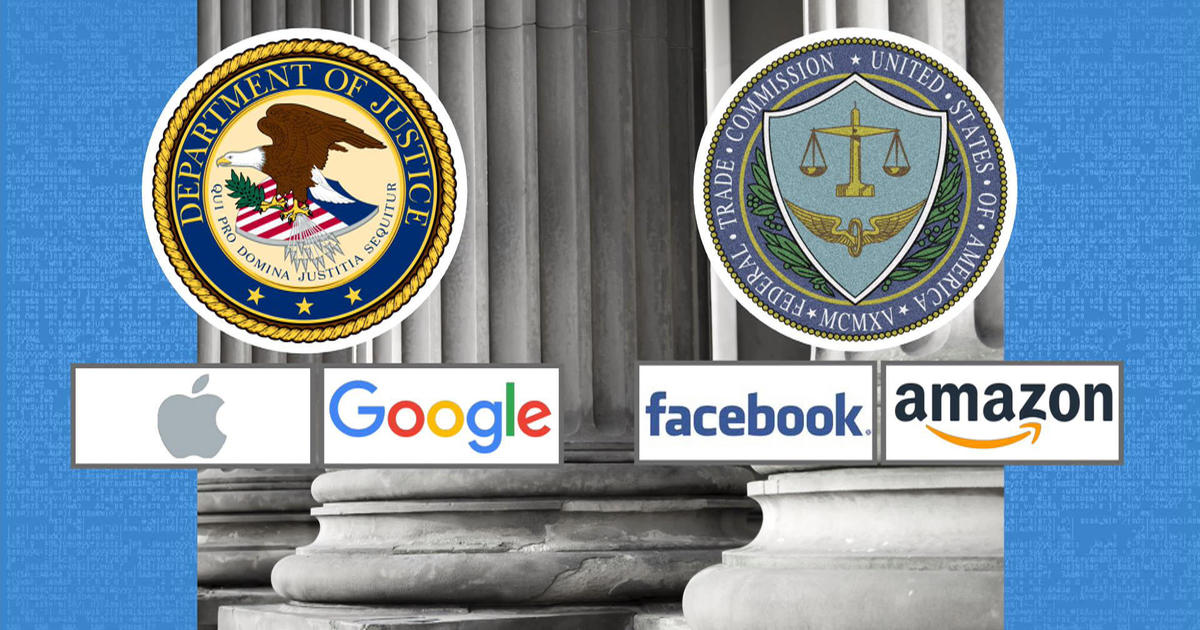 U S  government takes aim at tech giants with antitrust