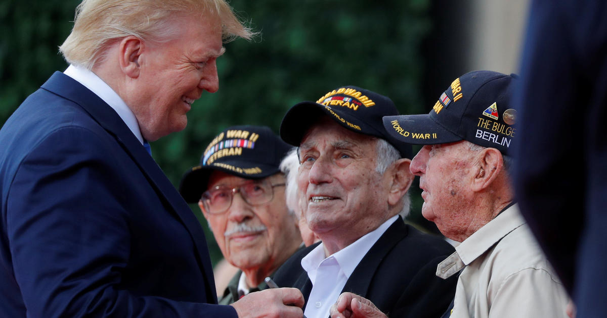 Trump, Macron honor veterans of D-Day as having