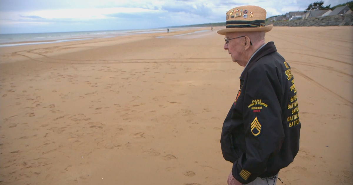D-Day Anniversary: Veteran returns to Omaha Beach for first