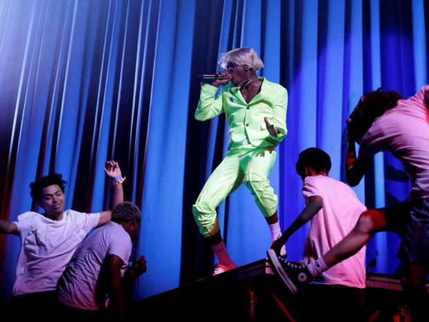 Tyler, the Creator performs during Governors Ball Music Festival at Randall's Island Park in New York