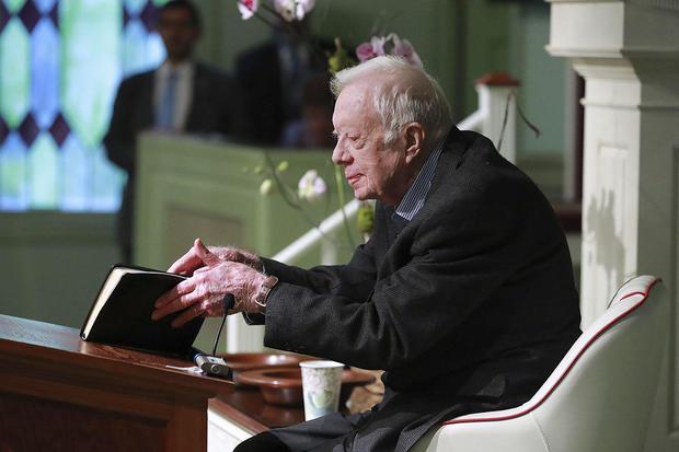 President Jimmy Carter teaches first Sunday school class