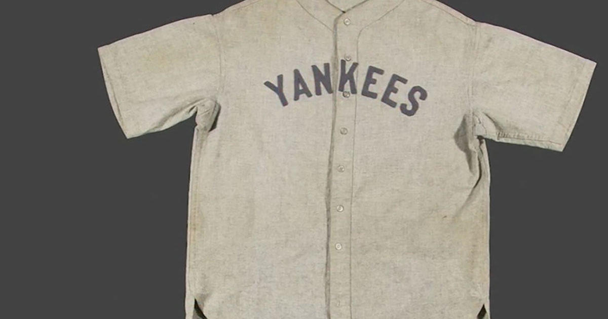 the best attitude cce34 a666f Babe Ruth baseball: Jersey worn by New York Yankees legend ...