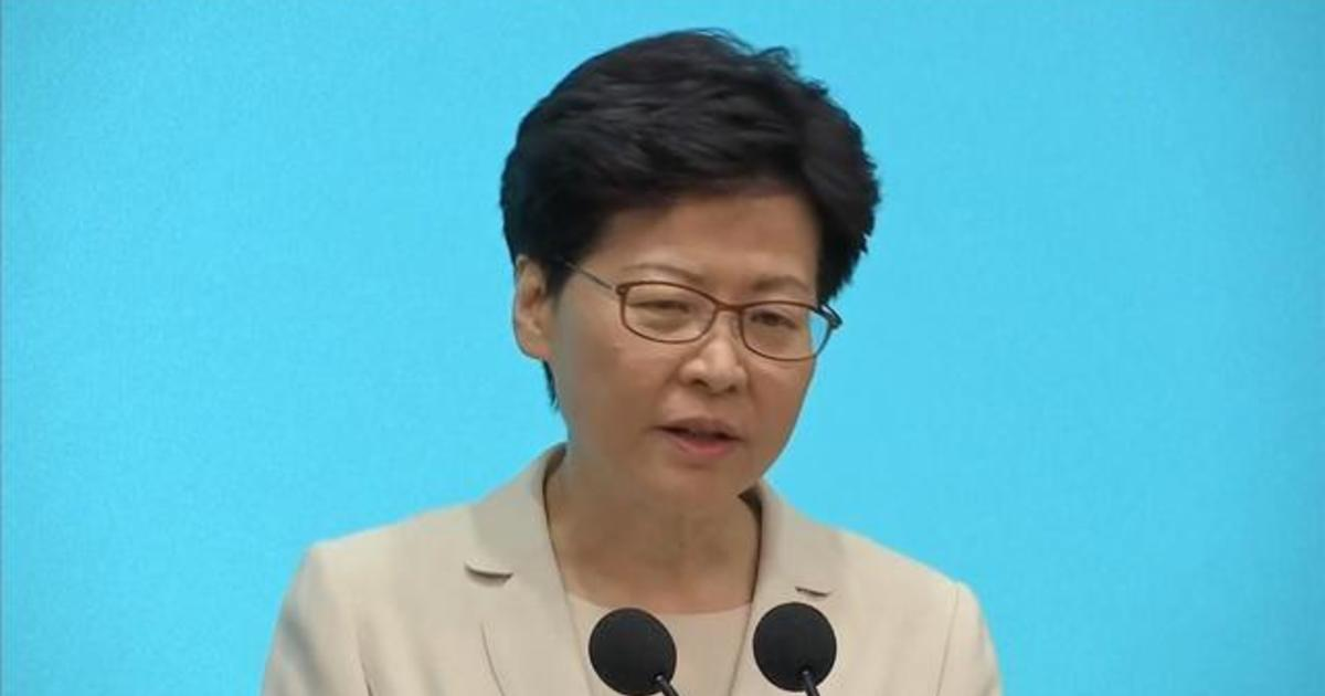 Hong Kong's leader apologizes in person for protests and violence
