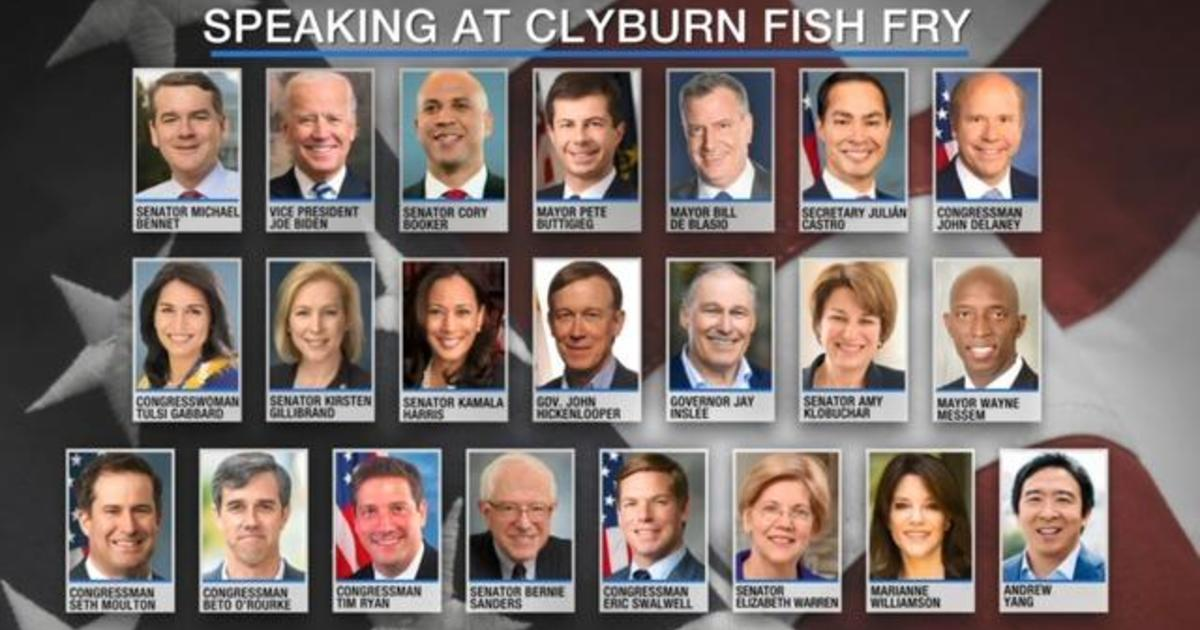 Democratic presidential candidates to speak at South Carolina fish