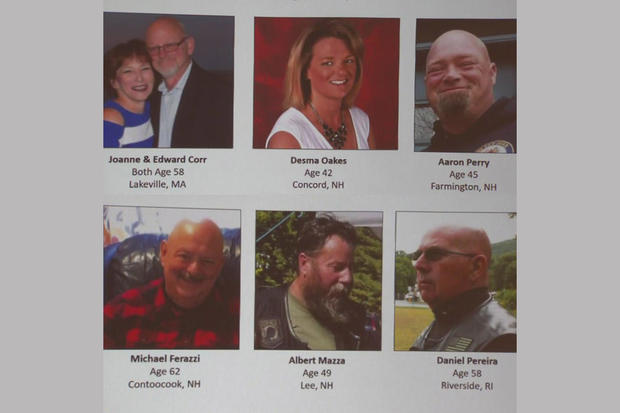 New Hampshire motorcycle crash victims identified by authorities
