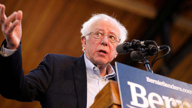 FILE PHOTO: U.S. presidential candidate and Vermont Senator Bernie Sanders speaks during a campaign rally at the Iowa State Fairgrounds in Des Moines