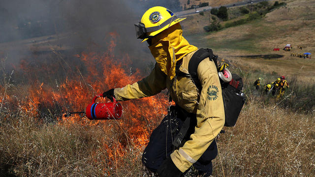 Firefighters Prepare Ahead Of Wildfire Season With Controlled Burn Training Session