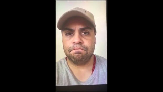 Víctor Hugo Gómez Vasquez is seen in a cellphone video recorded June 27, 2019.