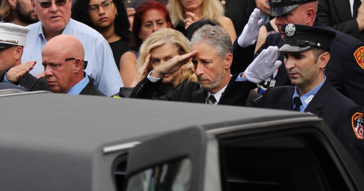 Jon Stewart slams Rand Paul for blocking 9/11 funding bill as another first responder dies