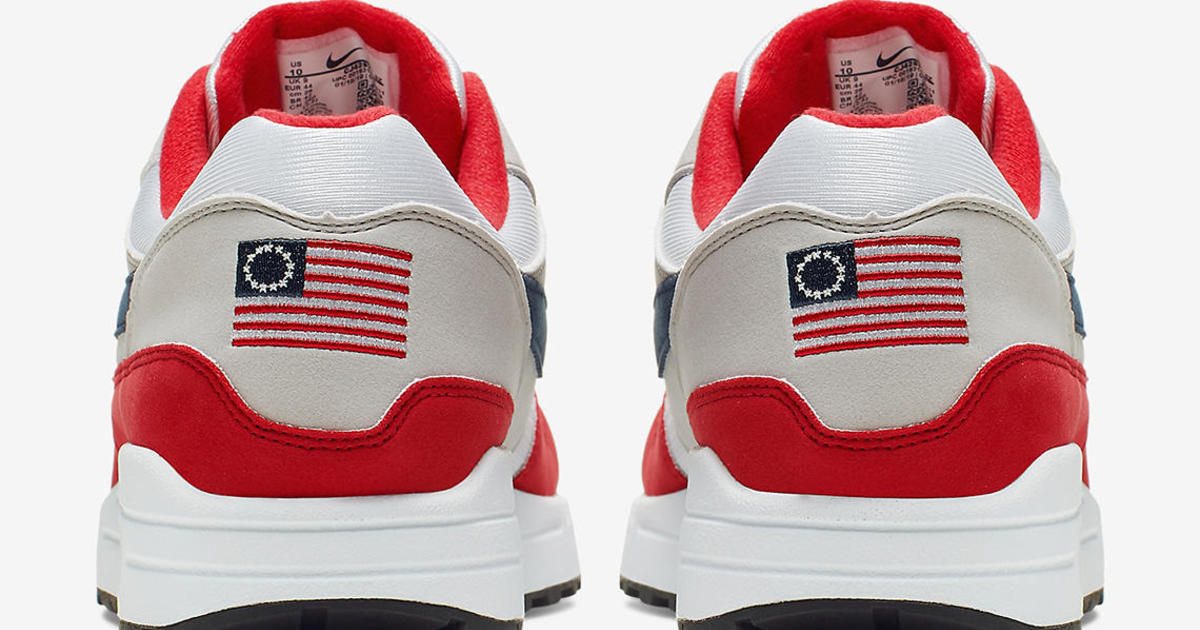 separation shoes a258e 54750 Nike Betsy Ross flag shoes  City of Goodyear, Arizona, will still pay Nike  millions to help open new 500-job plant - CBS News