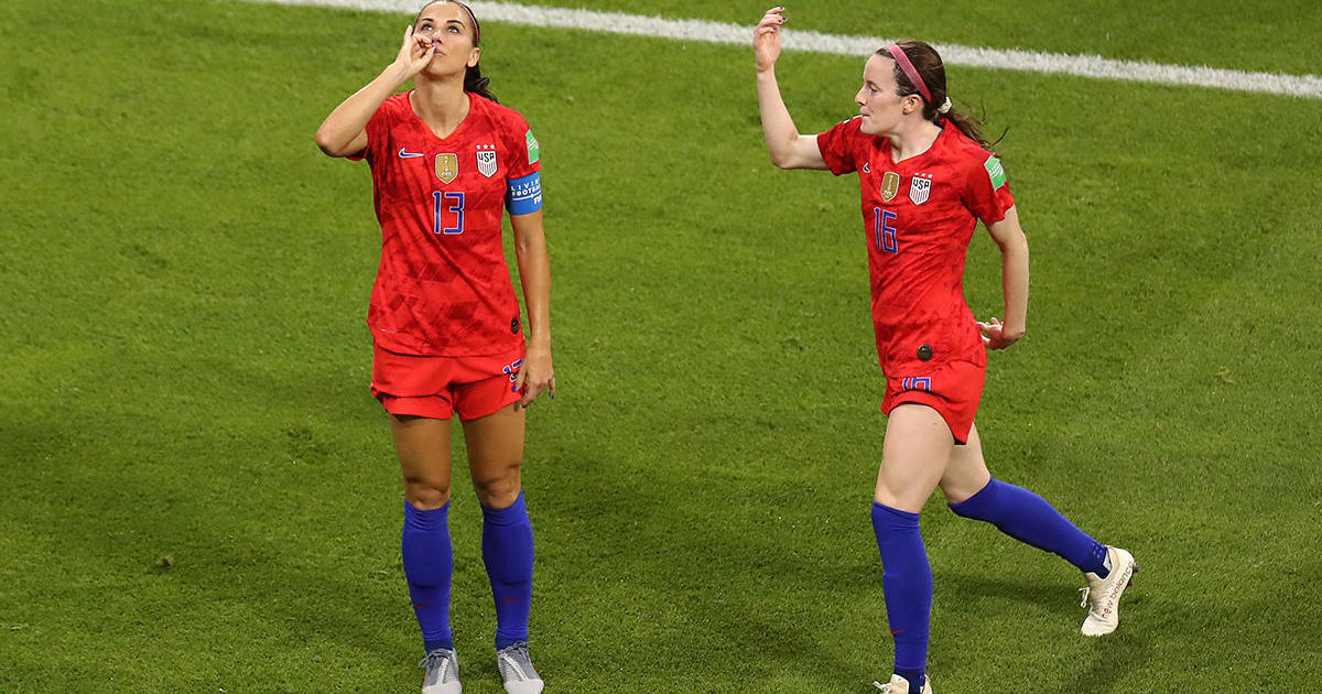 86c5a134d 2019 FIFA Women's World Cup: U.S. women's soccer star Alex Morgan says  tea-sipping celebration a tribute to Sophie Turner - CBS News