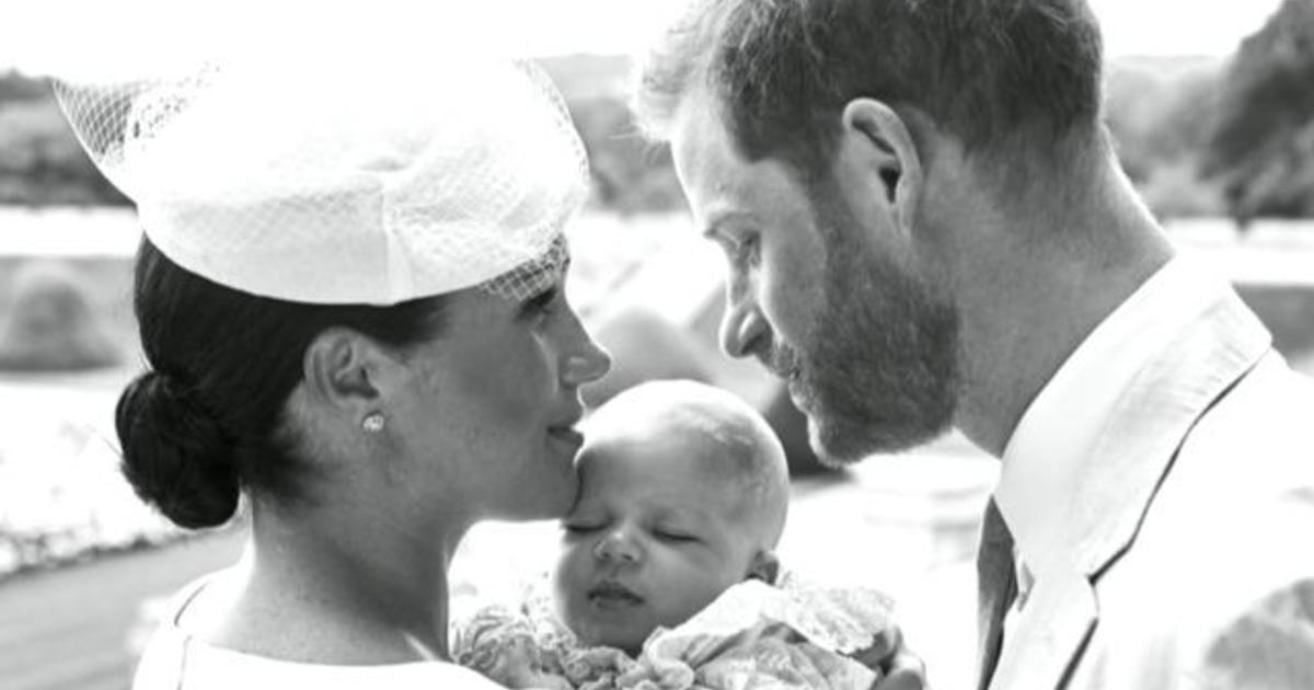 Royal family shares photos of baby Archie's christening - CBS News
