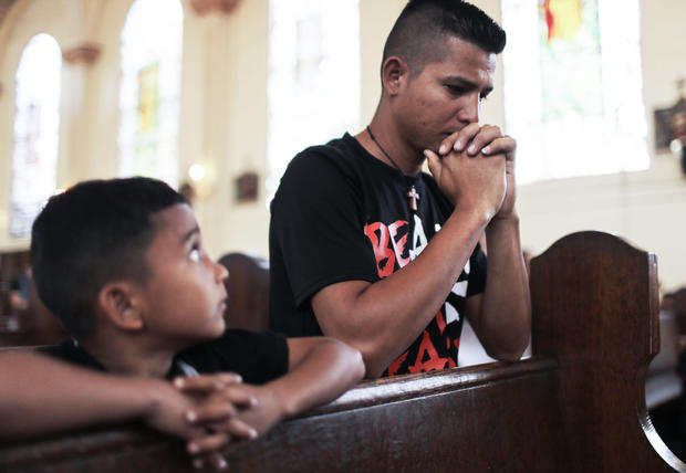 Father And Son From Honduras Seeking Asylum In The U.S. Await The Court's Decision On Their Status