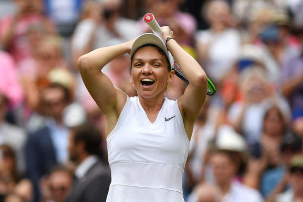 See the moment Simona Halep took down Serena Williams in Wimbledon final