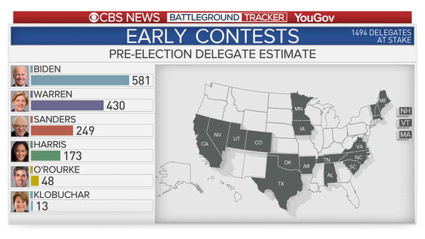 Early contests by the numbers: Democratic delegate race ...