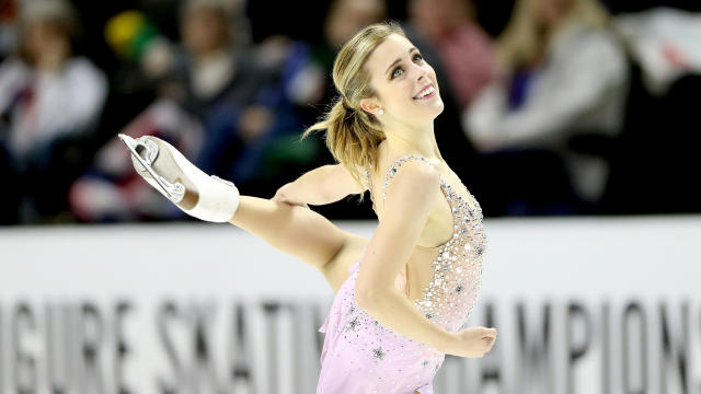 Ashley Wagner competes in the ladies free skate competition during the U.S. Figure Skating Championships at the SAP Center on Jan. 5, 2018, in San Jose, California.