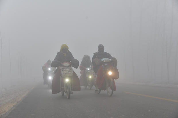 Heavy Smog Strikes North China