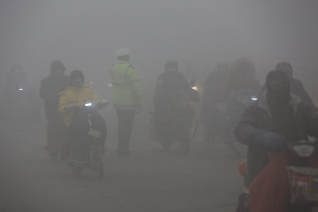 China's Regions Suffer Air Pollution At Beginning Of 2017