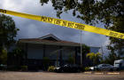 Police tape surrounds the Rehabilitation Center at Hollywood Hills in Hollywood, Florida, September 13, 2017.