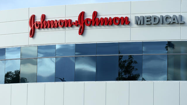 A Johnson & Johnson building is shown in Irvine, California
