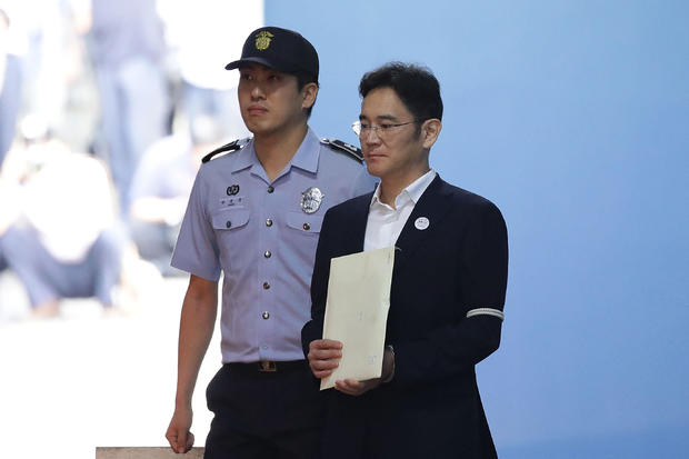 Samsung Group Heir Lee Delivered Ruling Over Bribery Scandal Involving Former President Park