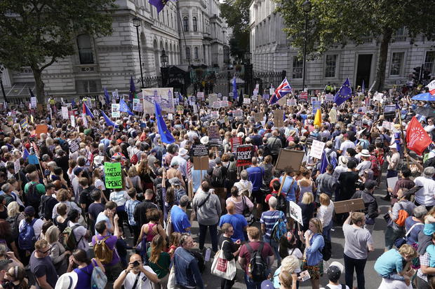 Stop The Coup Protests Against The Proroguing Of Parliament Are Held Across The UK