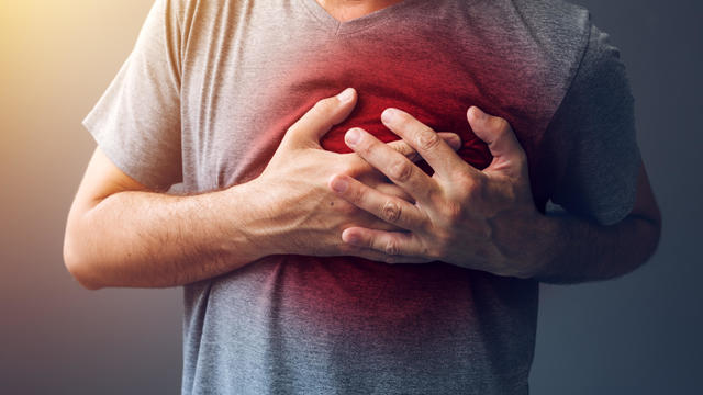 Adult male with heart attack or heart burn condition