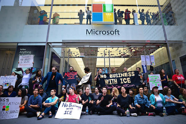 Dozens arrested during ICE protest at New York Microsoft store