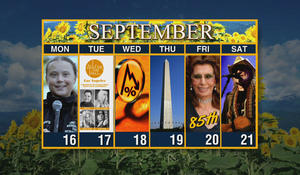 Calendar: Week of September 16