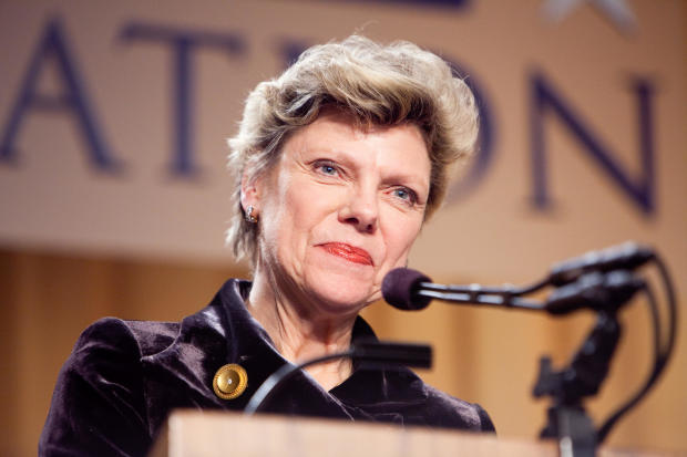 Journalist Cokie Roberts appears at the National Press Foundation's annual awards dinner on February 10, 2009, in Washington.