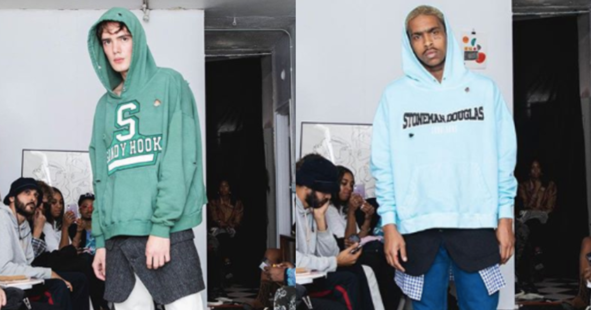 Fashion brand faces backlash for school shooting-themed sweatshirts