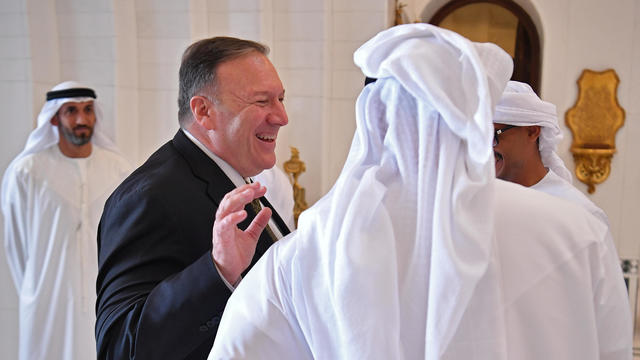 U.S. Secretary of State Mike Pompeo takes part in a meeting with Abu Dhabi Crown Prince Mohammed bin Zayed al-Nahyan in Abu Dhabi