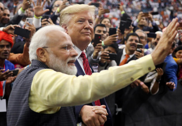 "Trump pushes unity with India at ""Howdy, Modi!"" event in Houston"