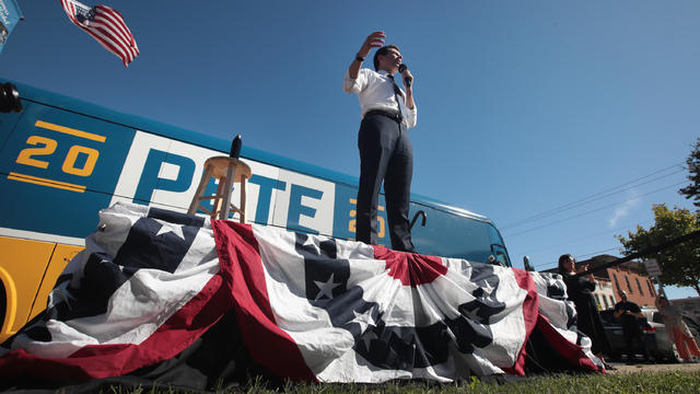 Democratic Presidential Candidate Pete Buttigieg Goes On Four Day Bus Campaign Swing Through Iowa