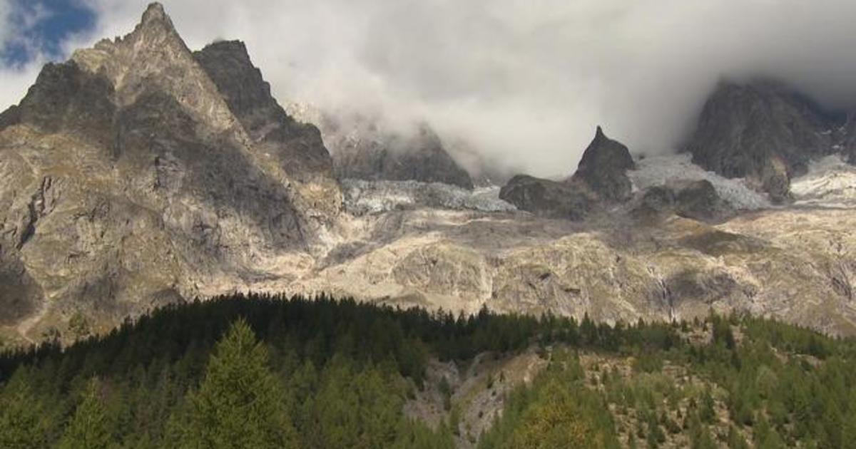 Rapidly melting glacier in Italian Alps at risk of collapse