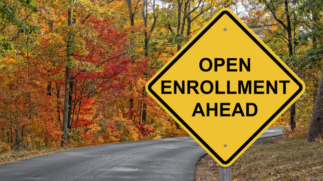 Open Enrollment Caution Sign