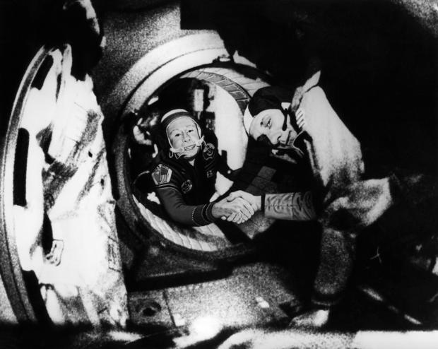 Commander of the Soviet crew of Soyuz, Alexei Leon