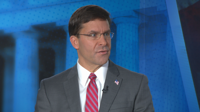 Mark Esper testifies before the Senate Armed Services Committee during his confirmation hearing to be secretary of the U.S. Army in the Dirksen Senate Office Building on Capitol Hill Nov. 2, 2017, in Washington.