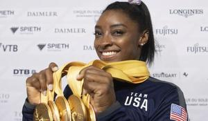 Biles wins 25th gold medal in Germany