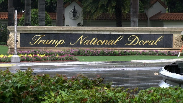 Graphic video depicting Trump-like figure assaulting foes, media shown at a Trump resort, New York Times says