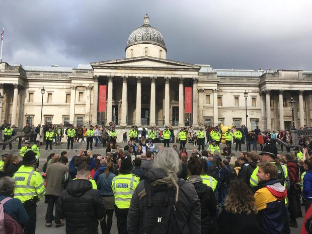 Climate change activists defy police ban to keep London protests going