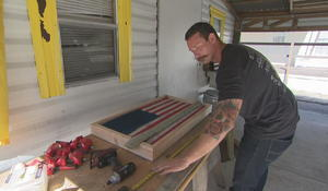 Florida firefighter turns old fire hoses into works of art