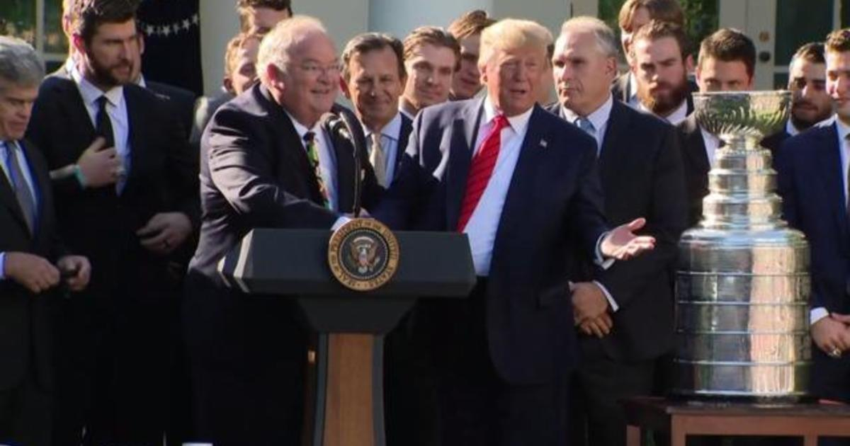 Trump welcomes 2019 Stanley Cup champions to White House