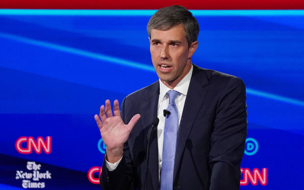 Democratic presidential candidate and former Rep. Beto O'Rourke speaks during the fourth U.S. Democratic presidential candidates 2020 election debate at Otterbein University in Westerville, Ohio U.S.