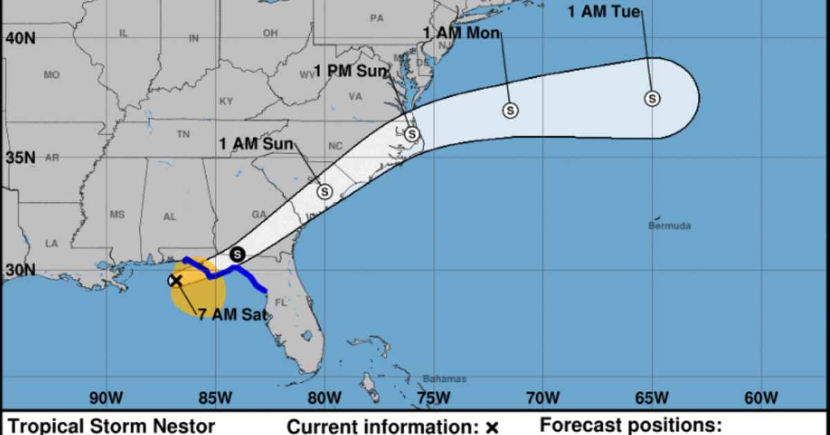 Tropical Storm Nestor downgraded to post-tropical cyclone as ...