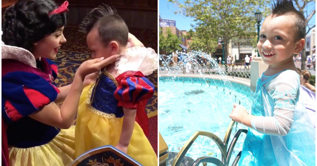 4-year-old boy with autism who likes to wear dresses befriends Disneyland characters