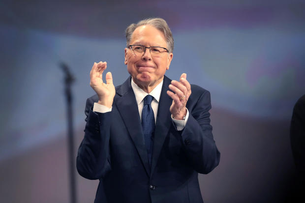 Wayne LaPierre, NRA executive vice president and CEO, attends the NRA's annual meeting of members on April 27, 2019, in Indianapolis.