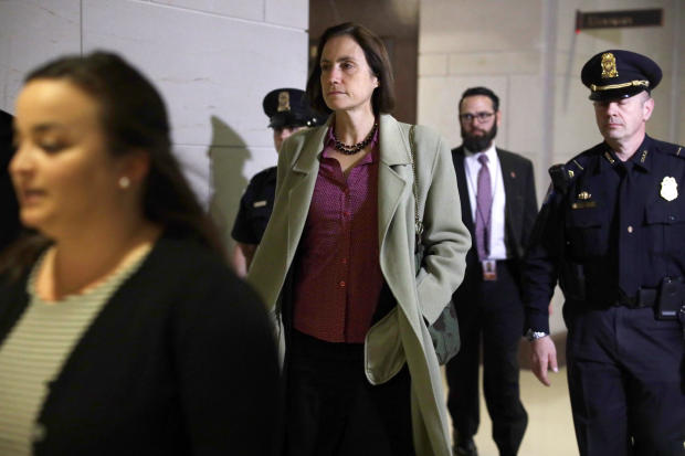 Former Trump Russia Advisor Fiona Hill  Returns To Review Deposition Transcript
