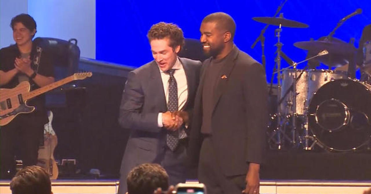Kanye West appears at Joel Osteen's Lakewood Church service