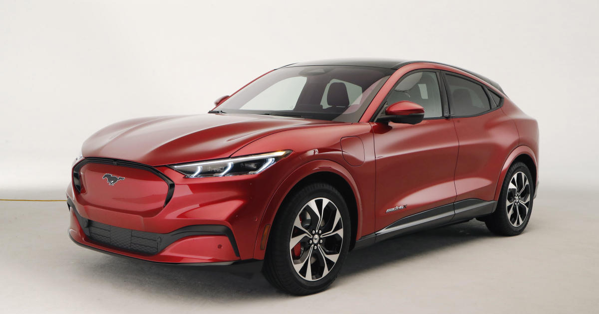 Ford debuts 2021 Mustang Mach-E all-electric SUV with range of up to 300 miles per charge - CBS News